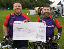 Nat West Donation from Wiggle Pedal Event
