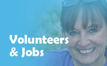 Volunteers and jobs