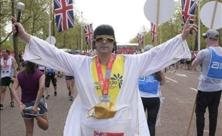 Can Fat Elvis run four marathons in six weeks? Uh-huh!