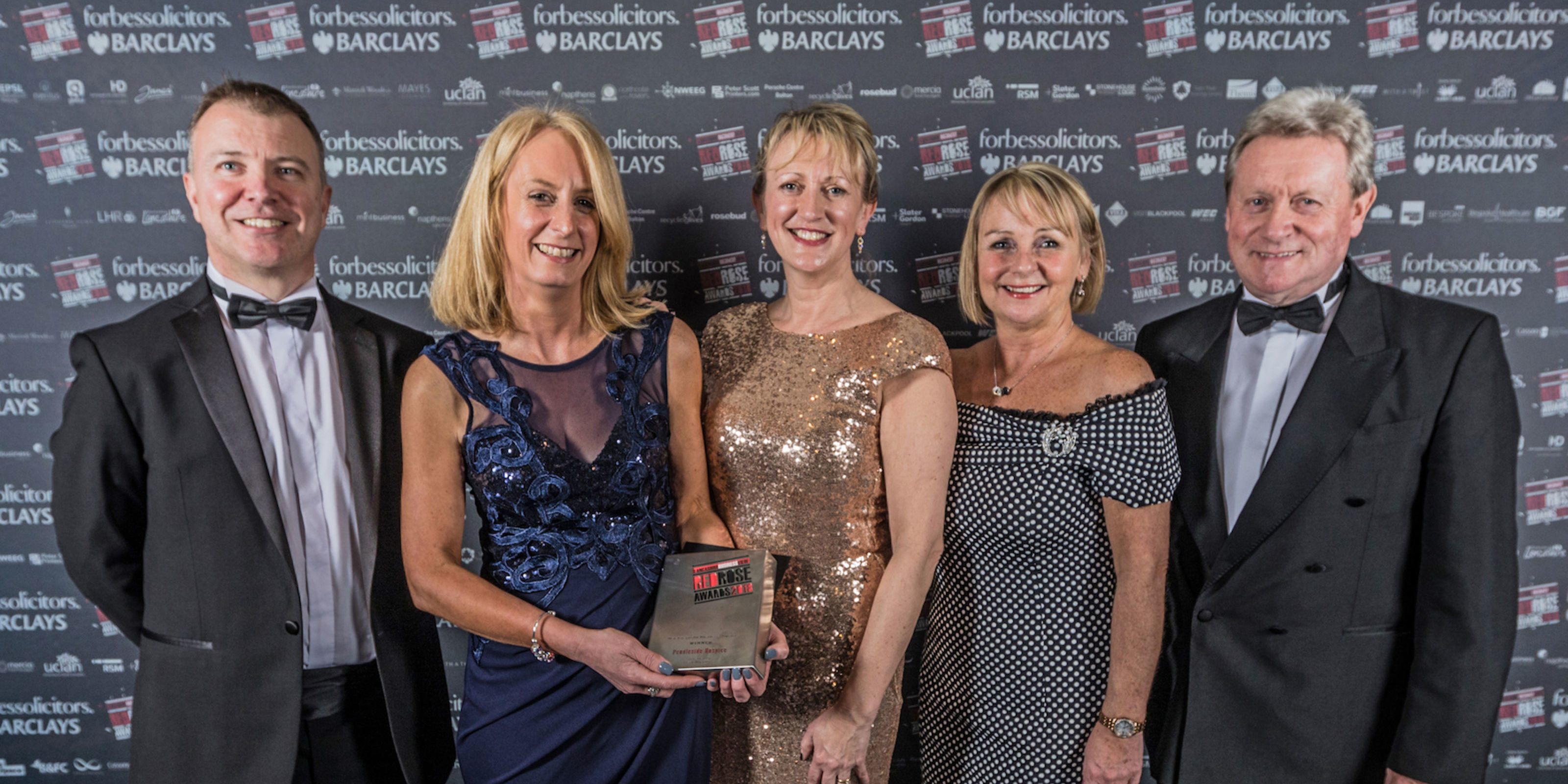 Pendleside Hospice scoops Not-for-Profit accolade at Red Rose Awards