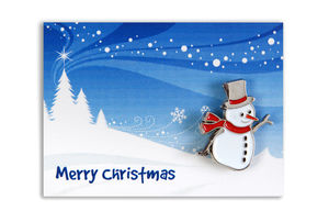 Snowman Charity Lapel Pin Badge