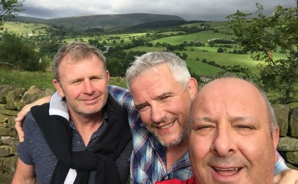 Intrepid trio take on pilgrimage walk as part of hospice challenge