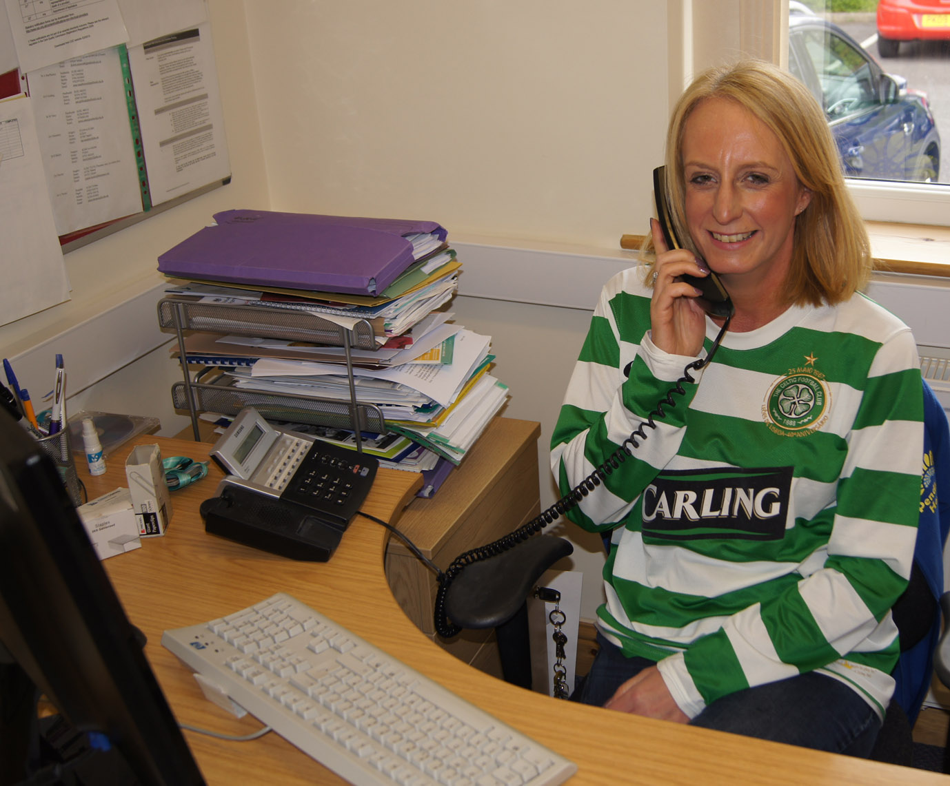 Wear your Shirt to Work day Helen McVey