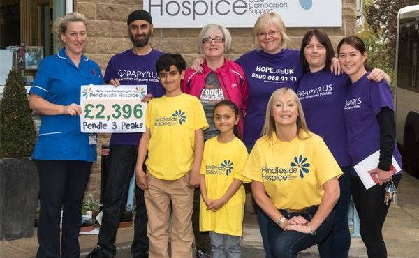 Pendle Three Peaks challenge in aid of Pendleside Hospice and Papyrus raises £2,396