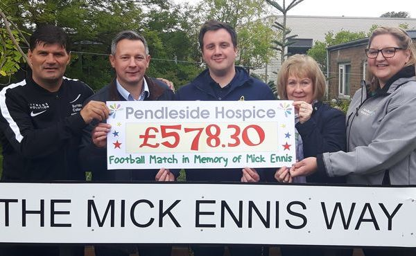 Fundraising in memory of Mick Ennis continues with another £578.30 being raised for Pendleside Hospice