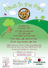 Paws in the Park 2017 Poster