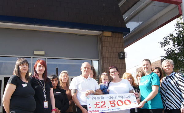 TK Maxx community fund boosts Hospice income by donating £2,500
