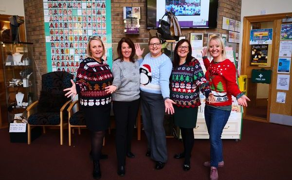 Pendleside Hospice Christmas Jumper Day