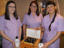 Complementary Therapists Laura Driver, Kate Smith and Victoria Wilkinson