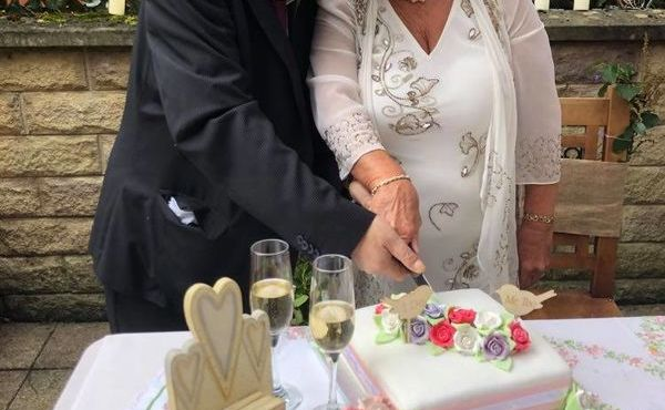 Couple marry at Pendleside after 30 years together