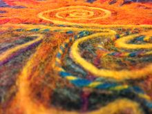 Felting creative therapy