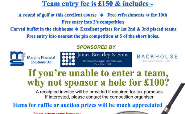 Charity Golf Day, Friday 19th May 2017, Nelson Golf Club